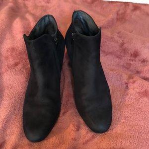 Paul Green black suede booties